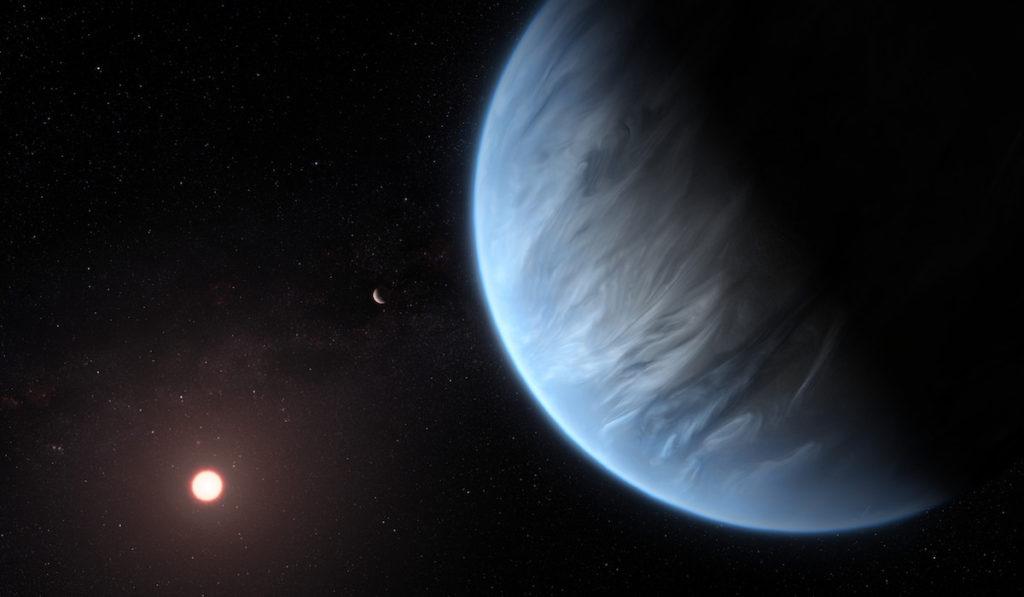 Exoplaneta K2-18b, su estrella anfitriona un planeta acompañante- ESA, Hubble, M. Kornmesser
