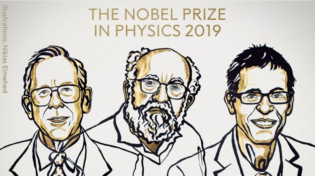 James Peebles, Michel Mayor y Didier Queloz, ganadores del Nobel de Física 2019