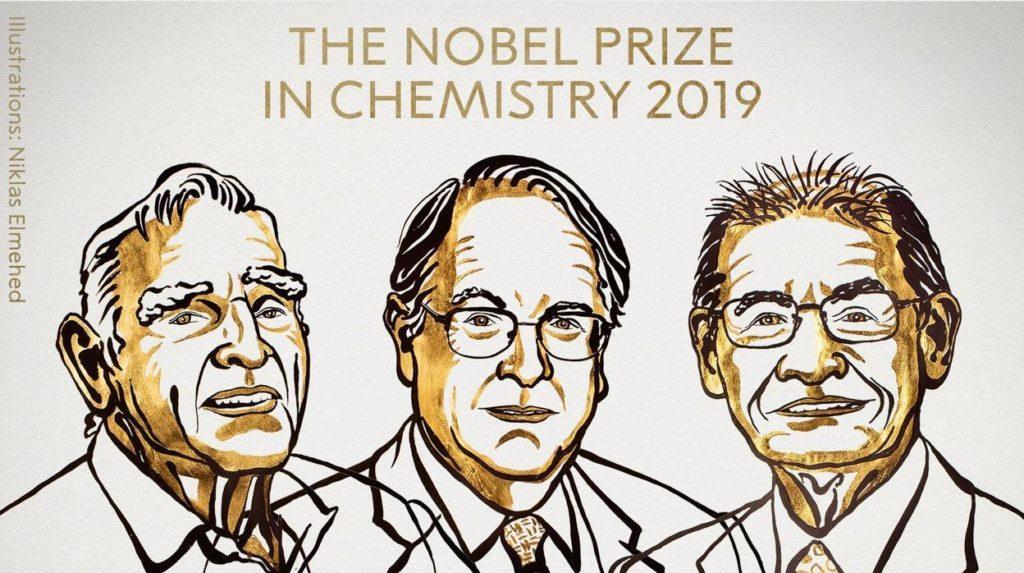 John B. Goodenough, Stanley Whittingham y Akira Yoshino, gandores del Nobel de Quiímica 2019