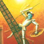 Don Quijote vs el molino. Pintura de Carlos Ortega Morales