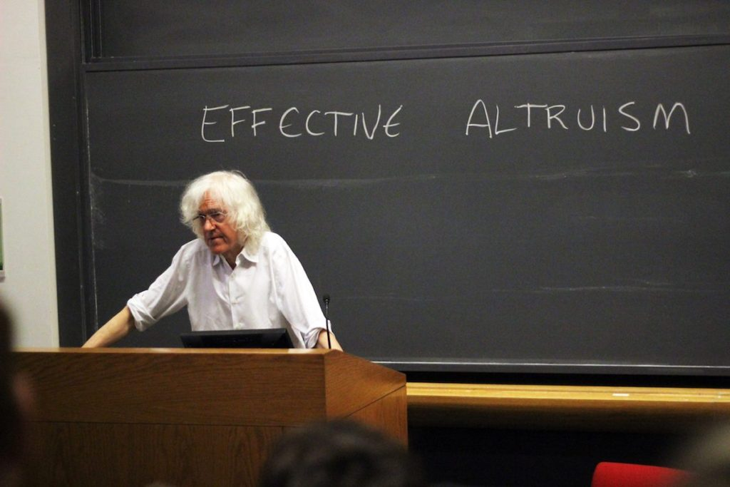 Derek Parfit, en la Universidad de Harvard, 2015- Imagen de Anna Riedl