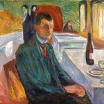 Autorretrato con una botella de vino- Edvard Munch, 1906, Museo Munch, Oslo