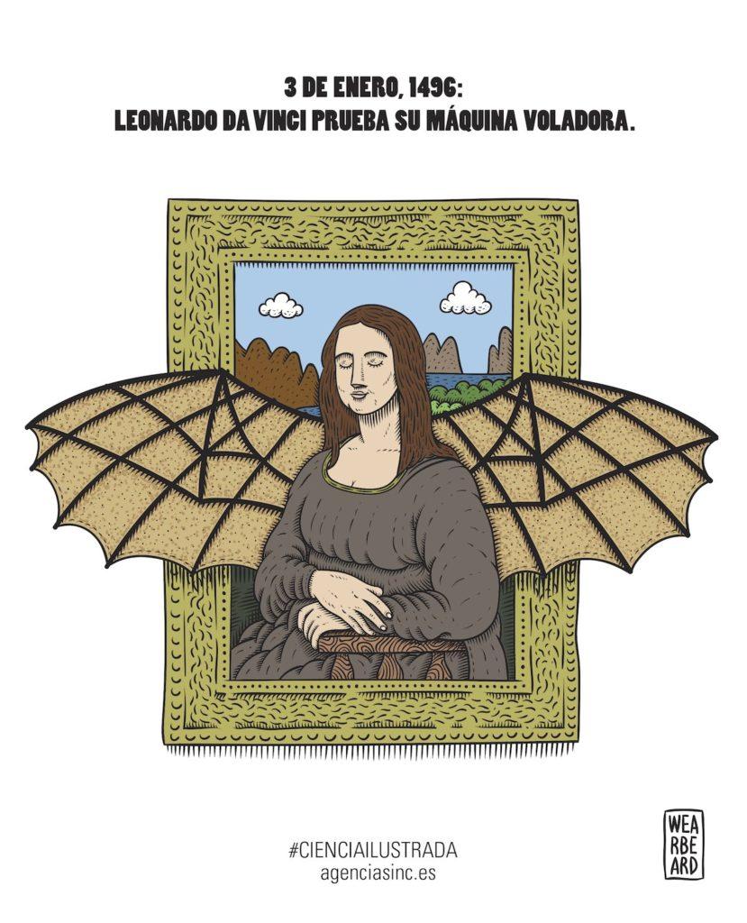 El sueño de volar de Leonardo da Vinci- Wearbeard, SINC