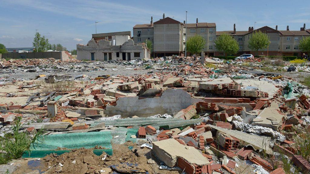 Los escombros son funcionales para la construcción de carreteras