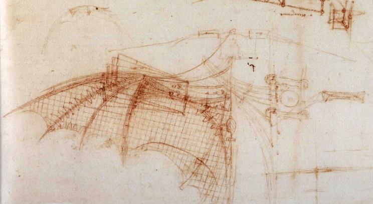 Ornitóptero o Maquina voladora de Leonardo da Vinci
